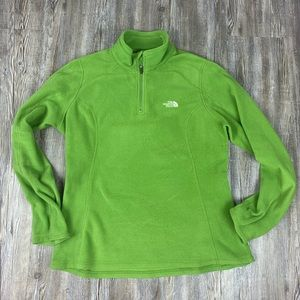 The North Face Green 1/4 ZIP Long Sleeve Top